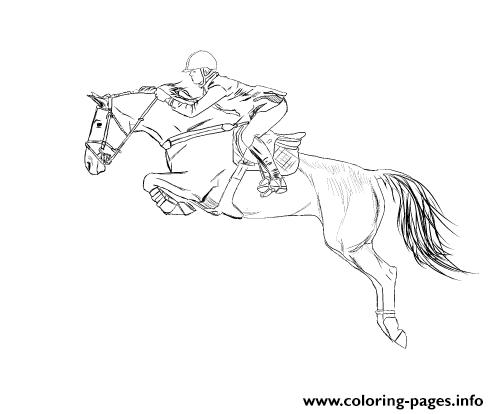 Horse S Jumping Sportbc5d coloring pages