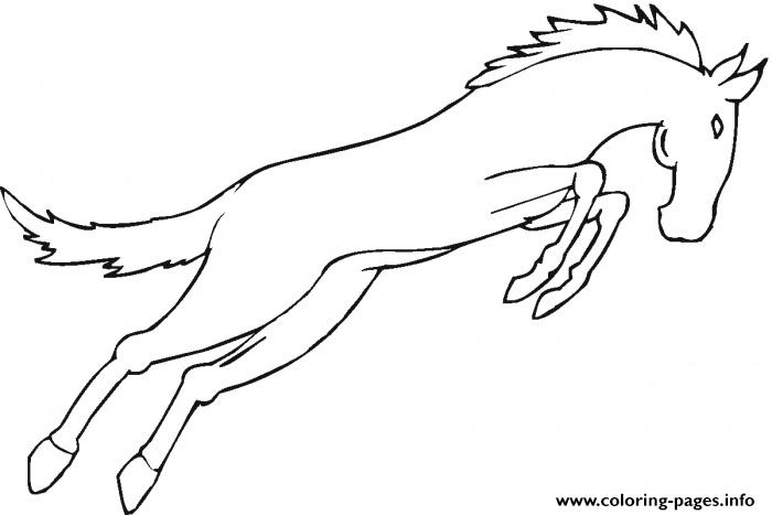 Mustang Horse Saca7 coloring pages