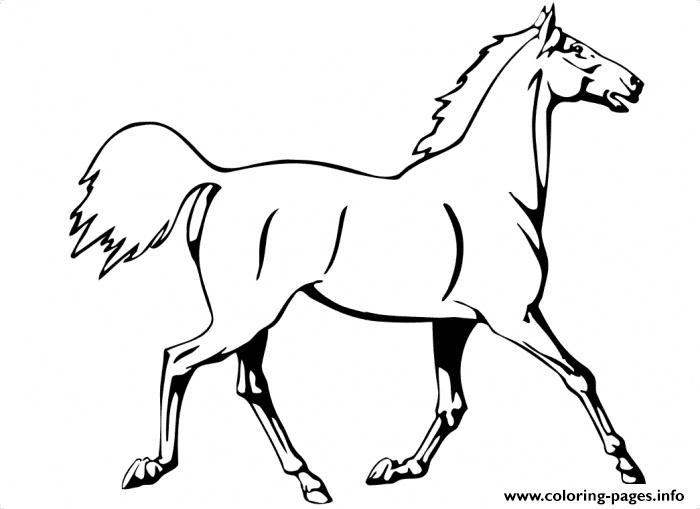 Running Horse Saebd coloring pages