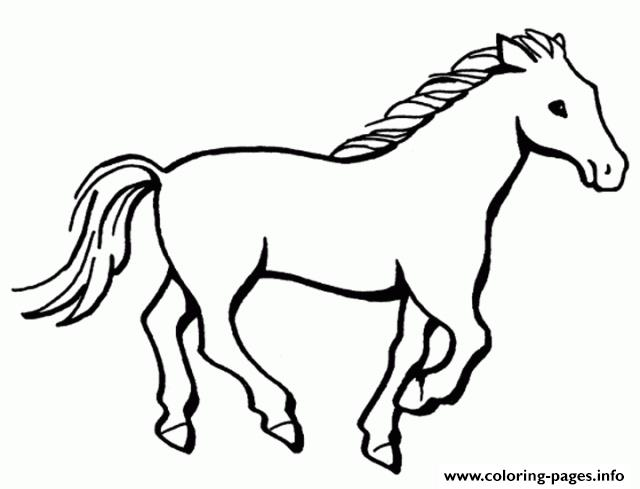 Simple Horse S201b Coloring Pages Printable