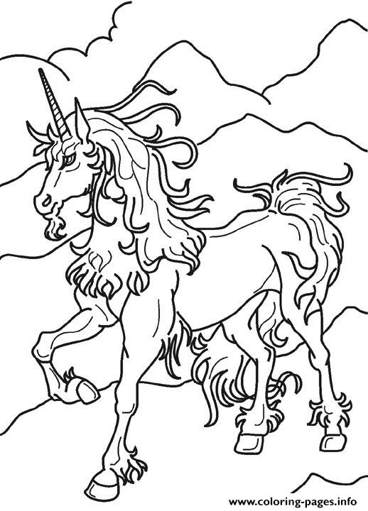 Unicorn Magical Horse Sf260 coloring pages