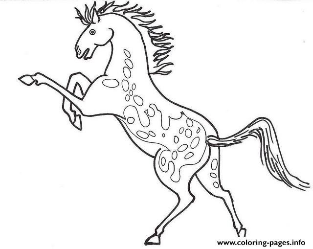 Appaloosa Horse Sc509 Coloring Pages Printable