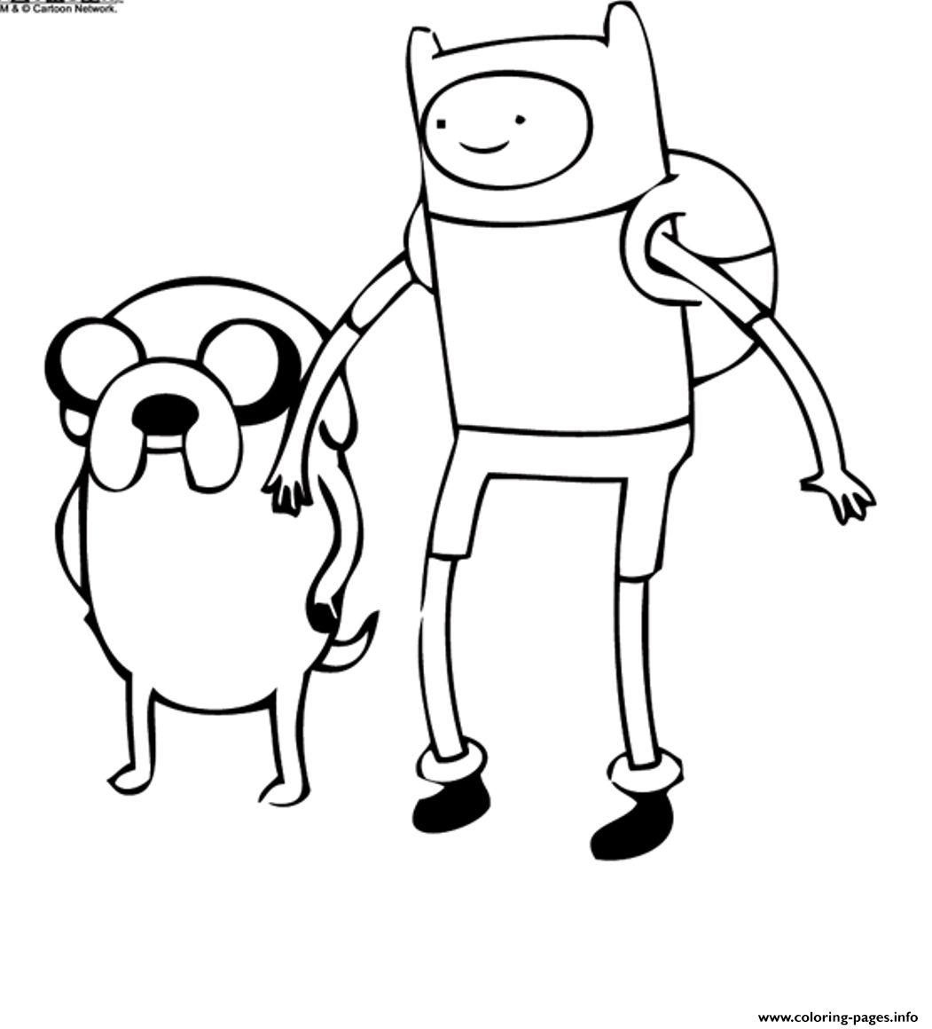 Cartoon Adventure Time S6365 coloring pages