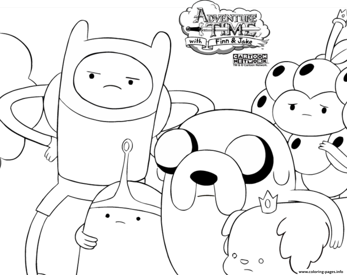 Adventure Time S Finn01fb Coloring Pages Printable