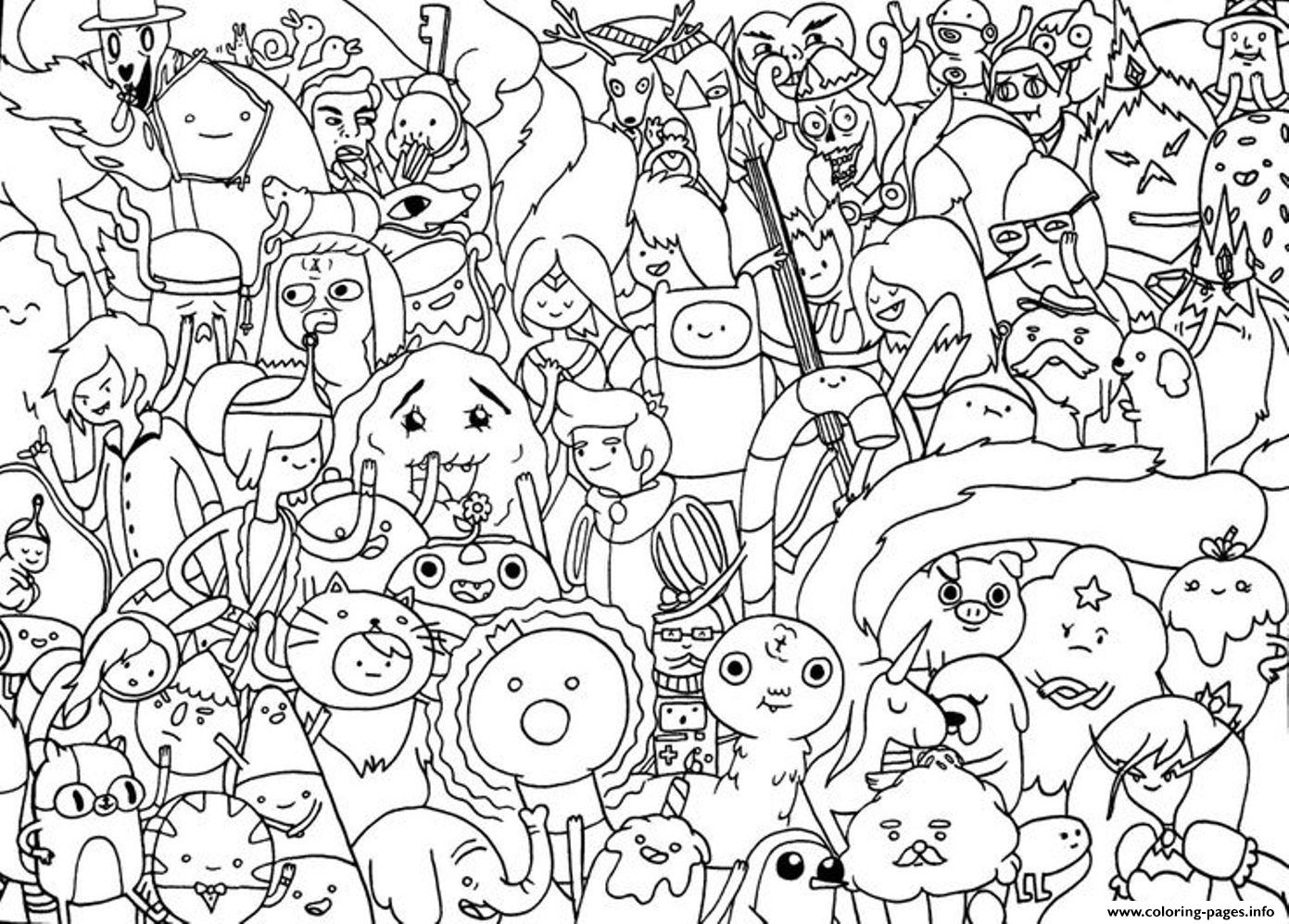 Free Cartoon Adventure Time Se41d Coloring Pages Printable
