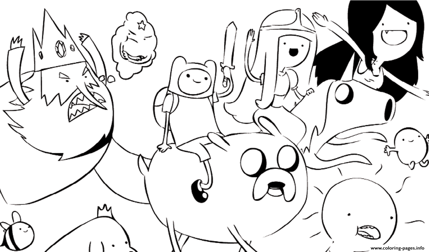 Adventure Time S Cartoone863 Coloring Pages Printable