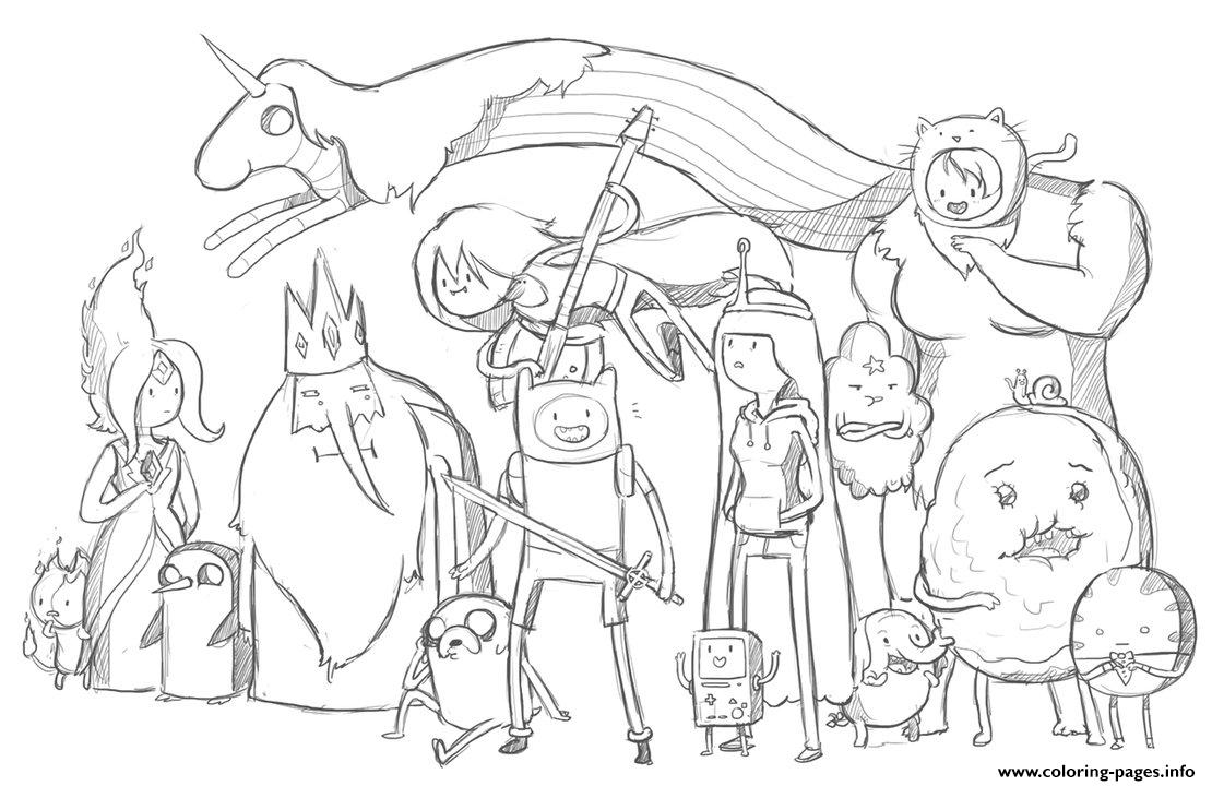 Uncategorized Adventure Time Coloring Pages To Print printable adventure time s7456 coloring pages pages