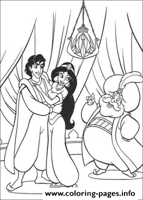 Aladdin Got Advice From Jasmines Dad Disney Coloring Pagesd8fb coloring pages