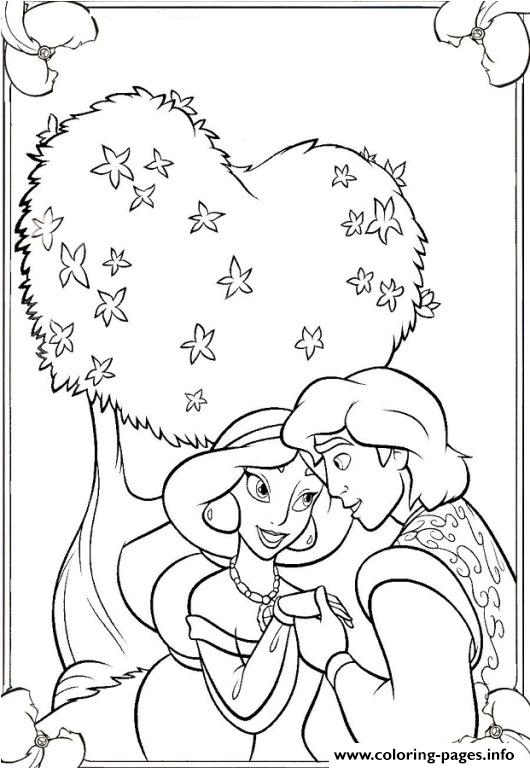 Aladdin Proposing Disney Princess Coloring Pages2257 Coloring Pages Printable
