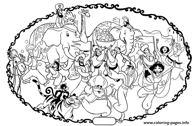 Aladdins Wedding With Elephants Disney Coloring Pages3b48 Rhcoloringpagesinfo: Coloring Pages Wedding Disney At Baymontmadison.com