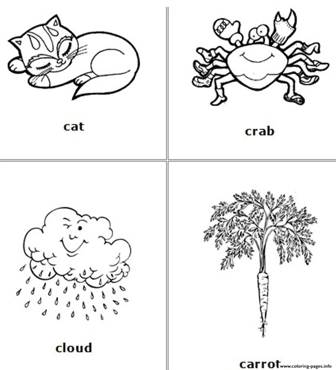 3 letter c words coloring pages alphabet c words3cc9 coloring pages printable 36285