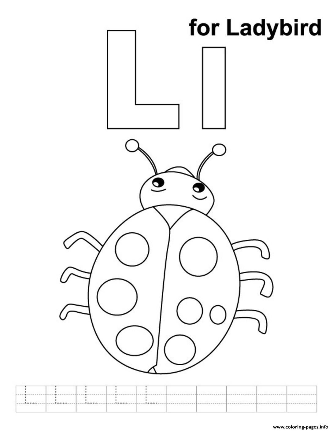 Ladybird Alphabet S Freefb73 Coloring