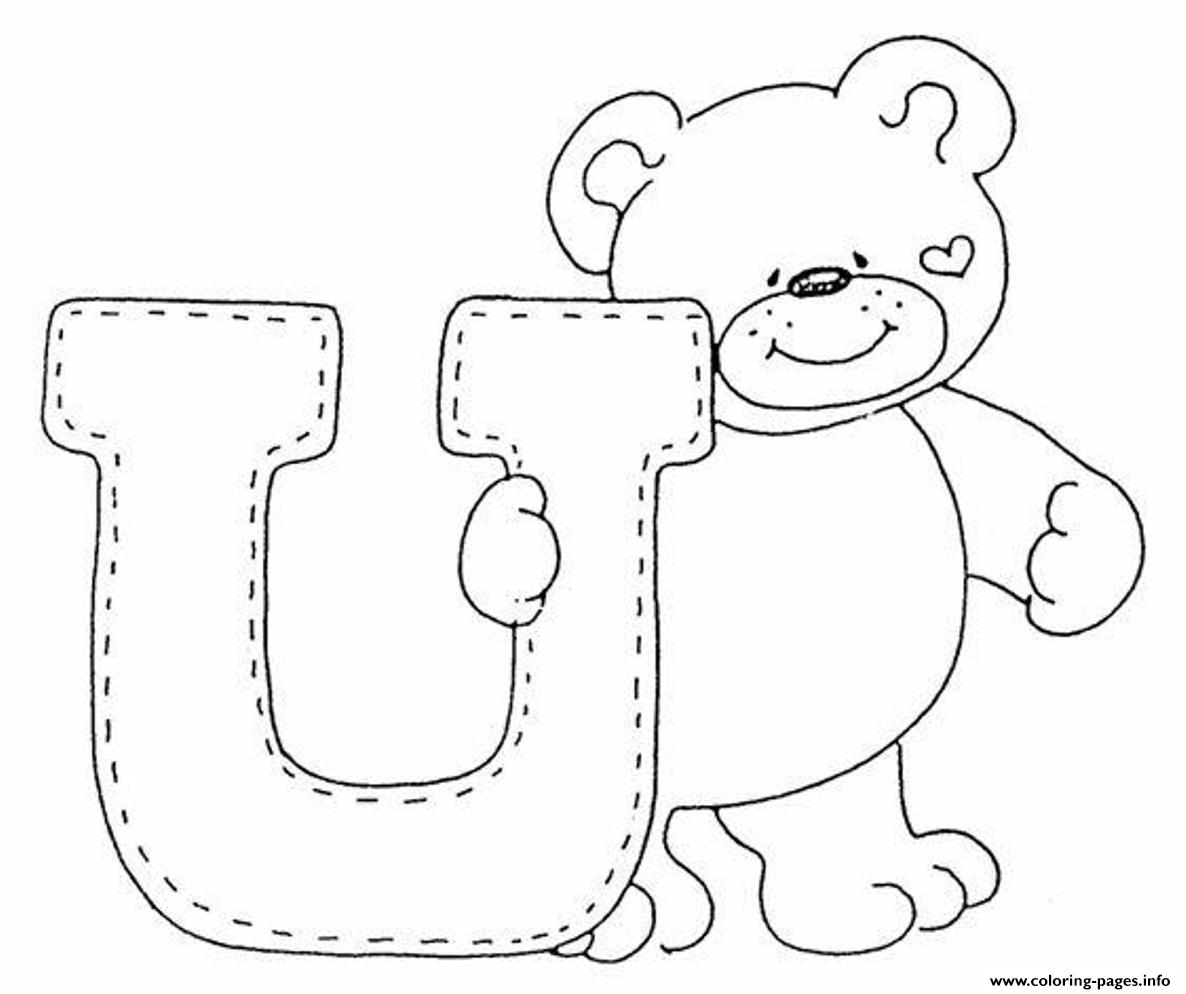 Cute Bear Alphabet S Freea3a4 Coloring