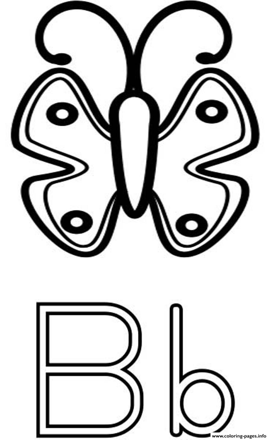 Butterfly B Alphabet Sfd9a coloring pages