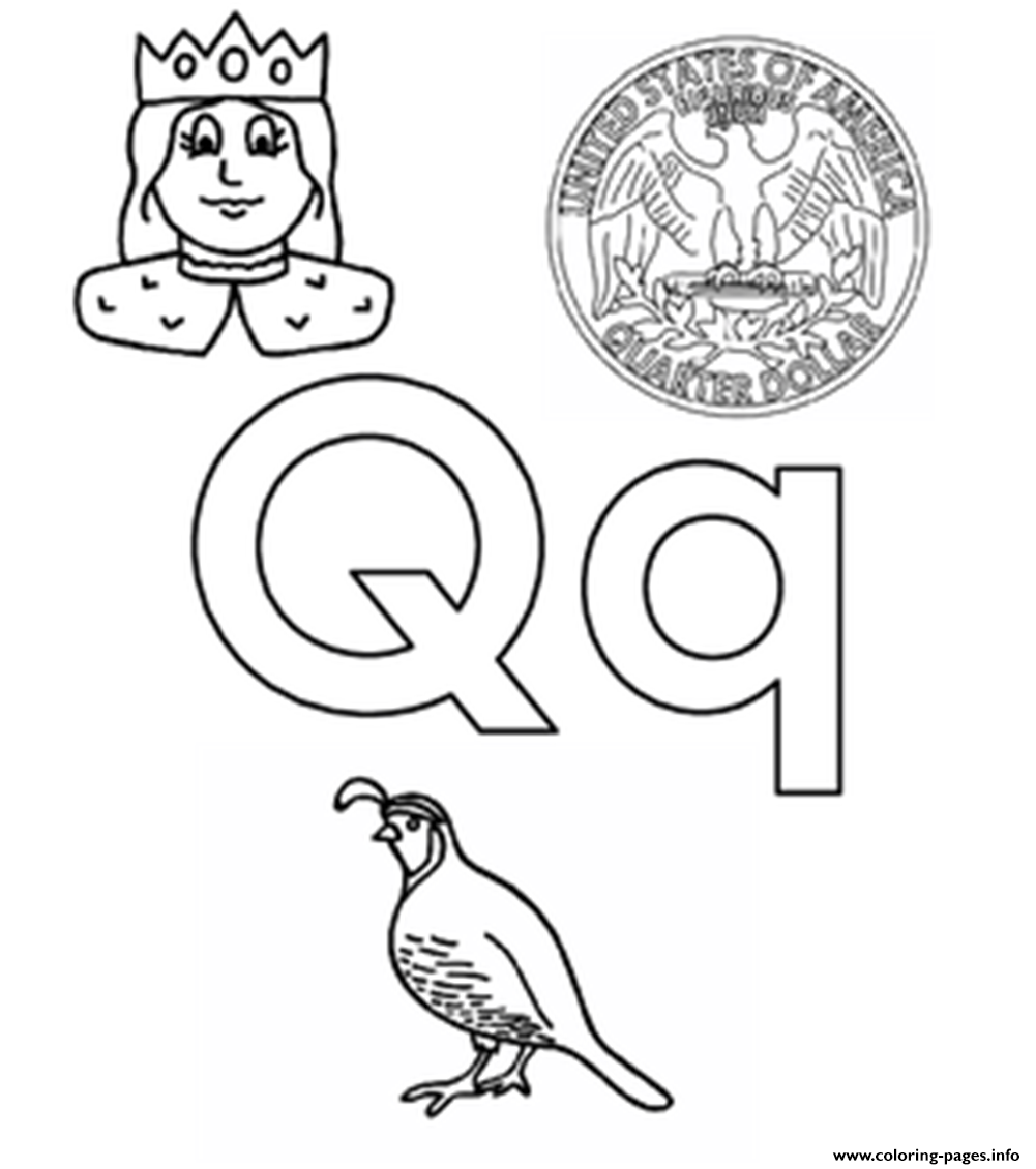 Coloring pages for q words - Q Words Alphabet S45b3 Coloring Pages