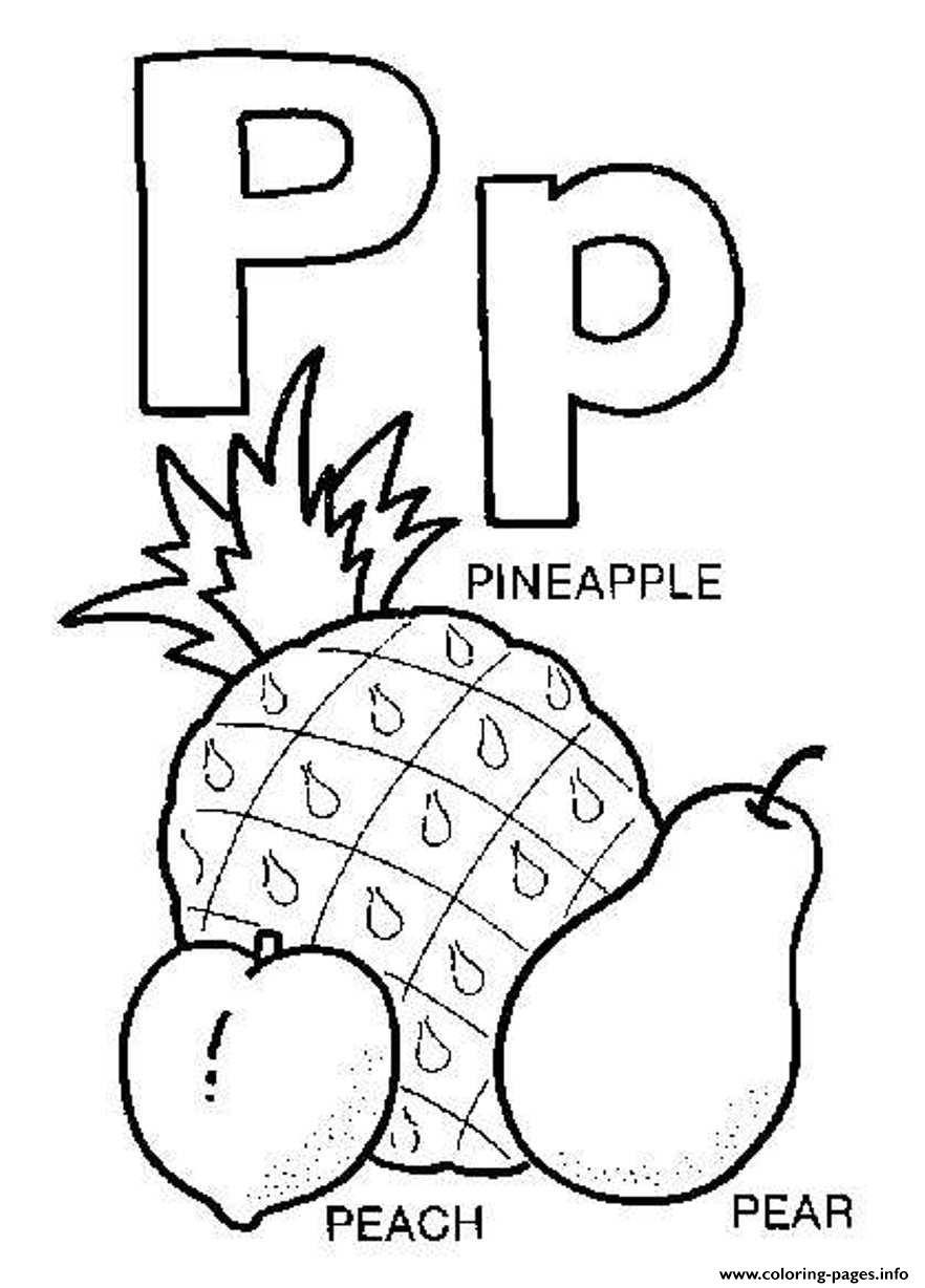 letter p coloring book free printable pages - Letter P Coloring Sheet