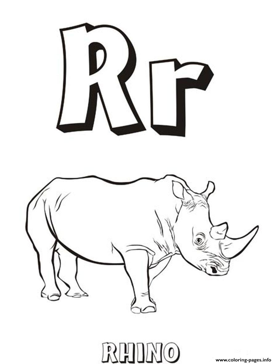 Free Rhino Coloring Pages | 1184x897