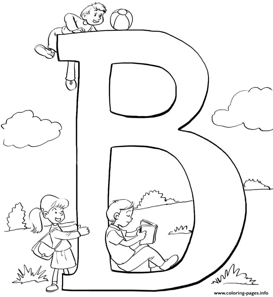b words coloring pages - photo #10