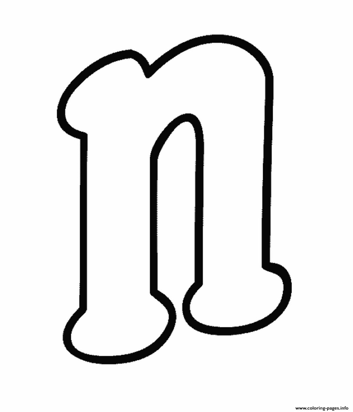 lowercase n free alphabet s58d5 coloring pages