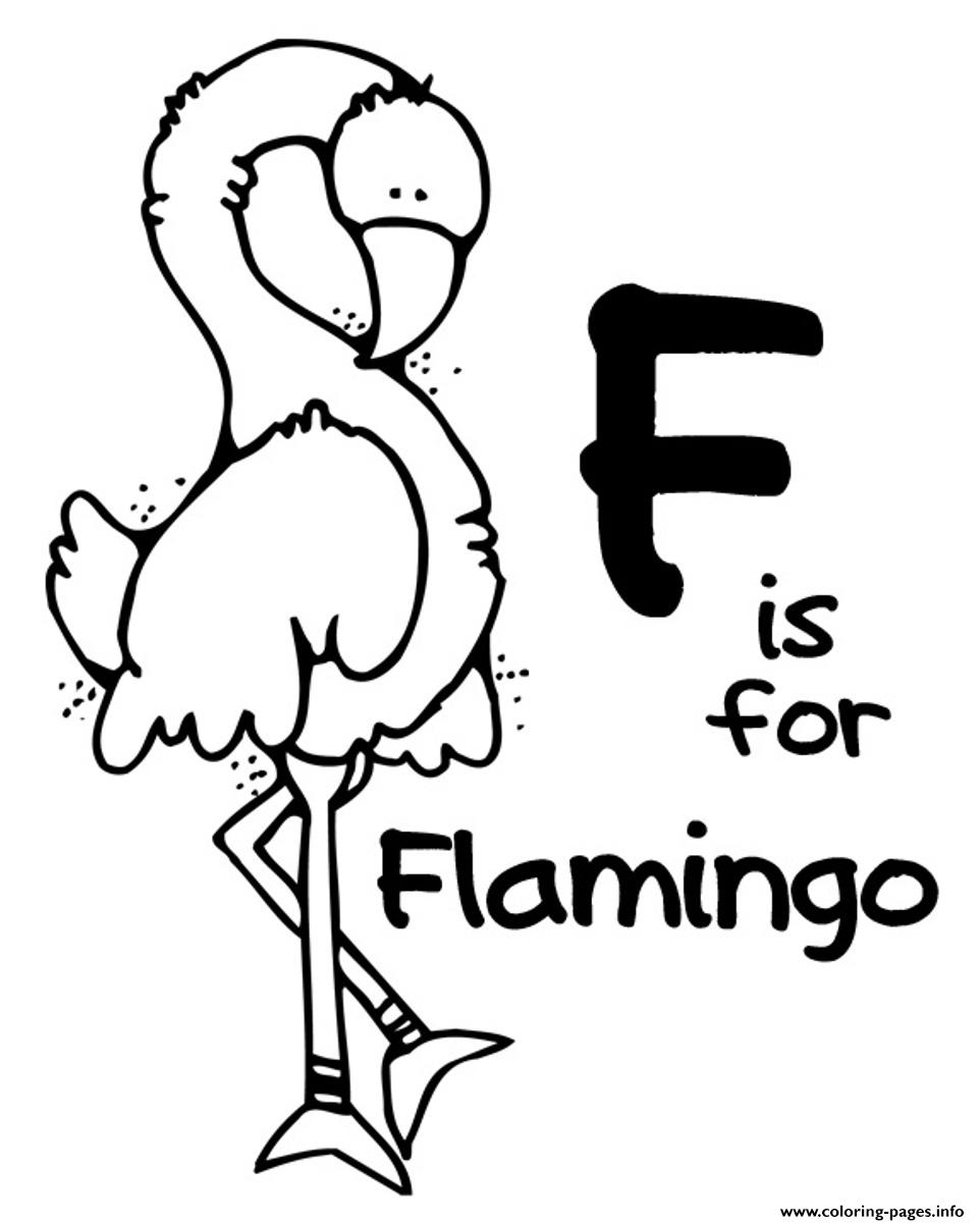 flamingo free alphabet s30ff coloring pages printable