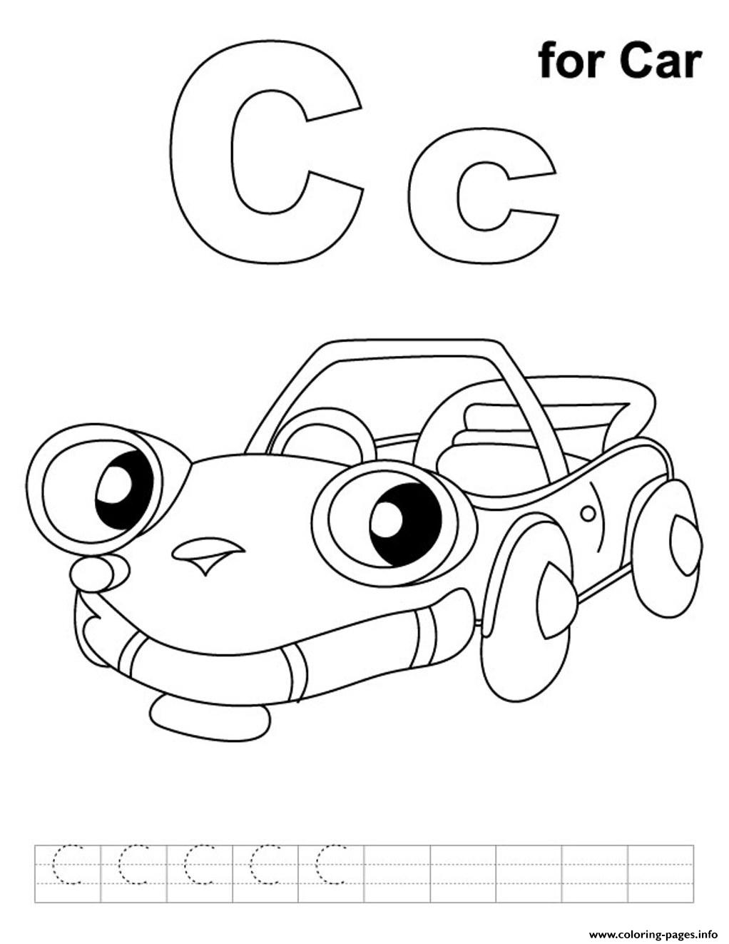 Car S Alphabet C28bc Coloring Pages