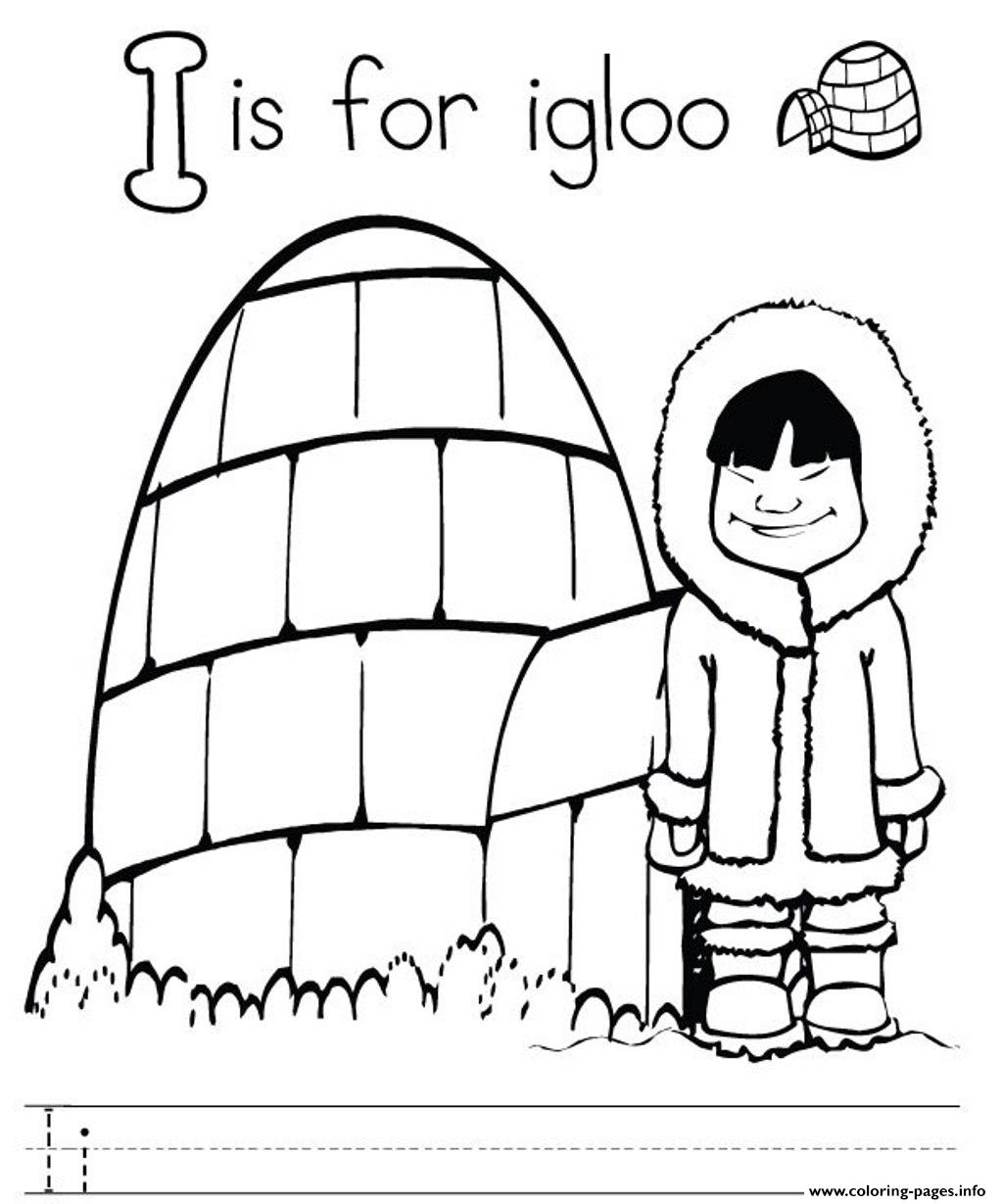 printable igloo coloring pages - photo#13