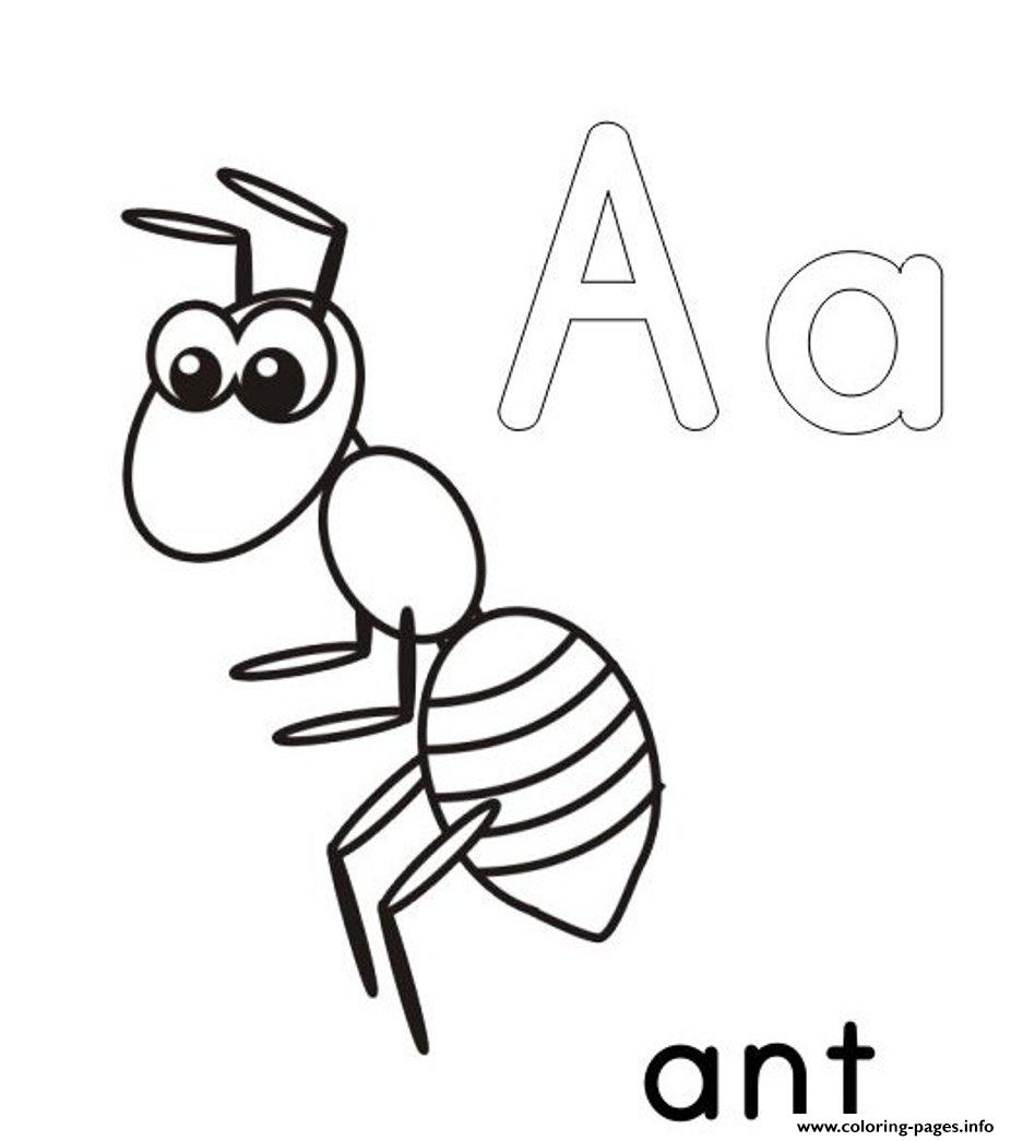 A For Ant Alphabet S Printable17f25 Coloring Pages Print Download