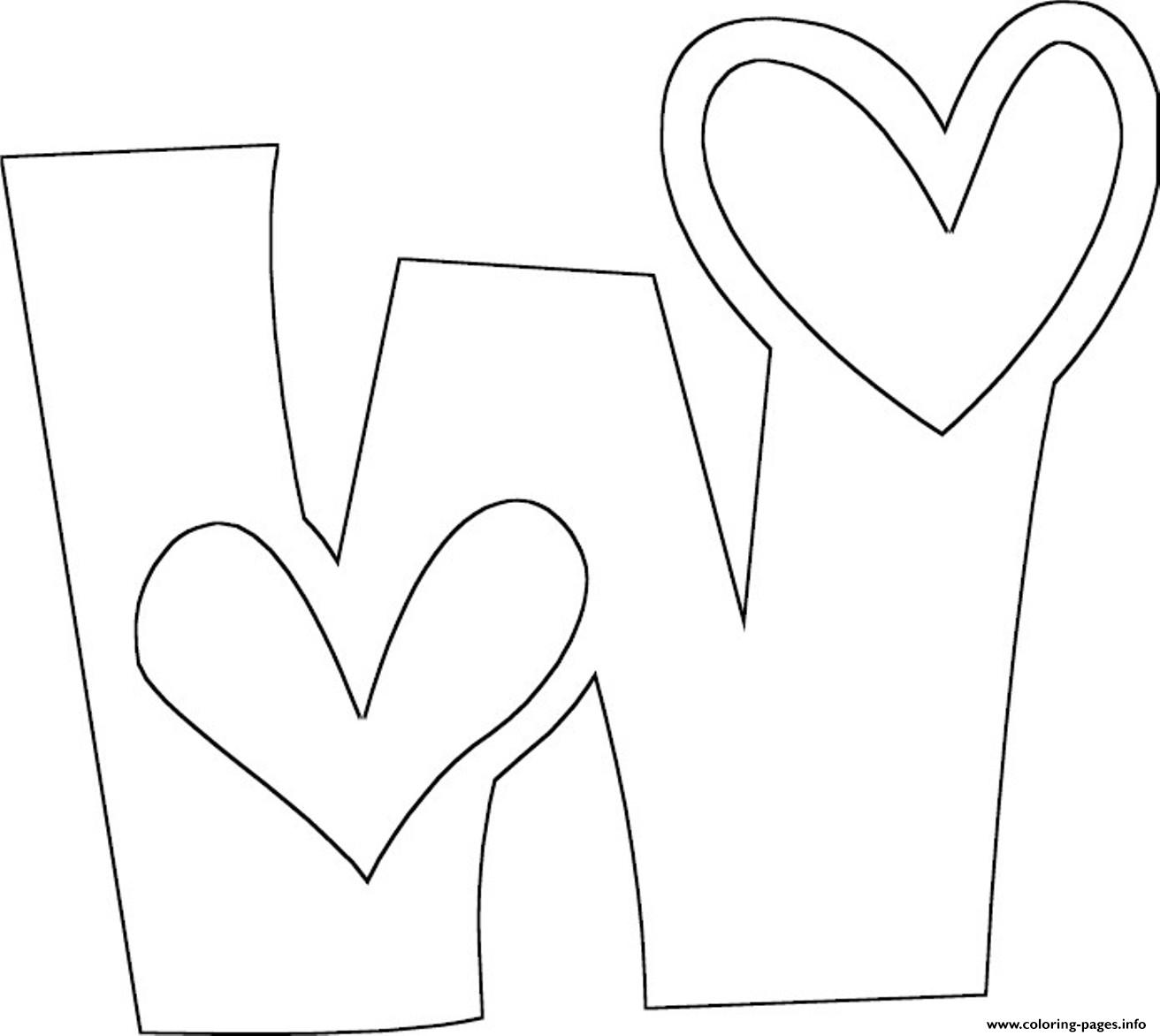 Alphabet Coloring Pages W : Love w free alphabet s f coloring pages printable