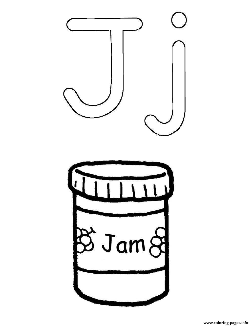 Alphabet  J For Jamc468 coloring pages