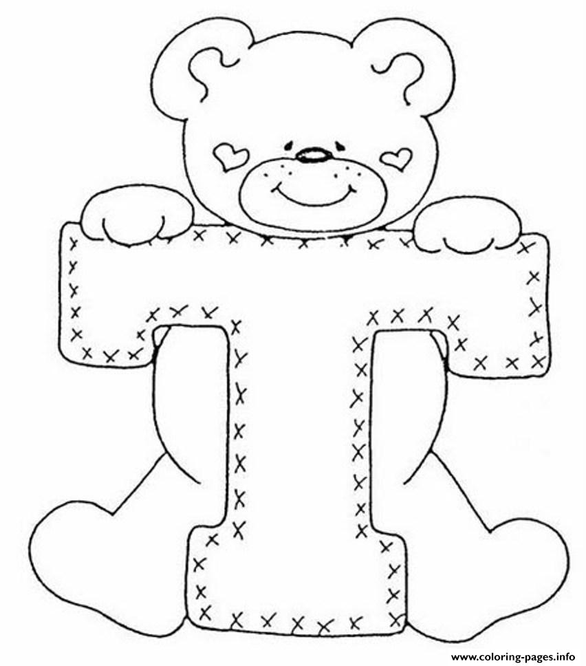Cute Bear Alphabet 1460 Coloring