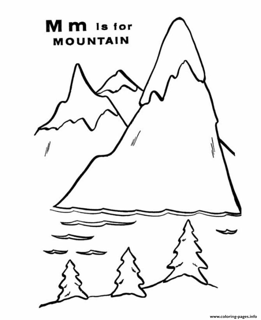 Mountain Free Alphabet S776e Coloring