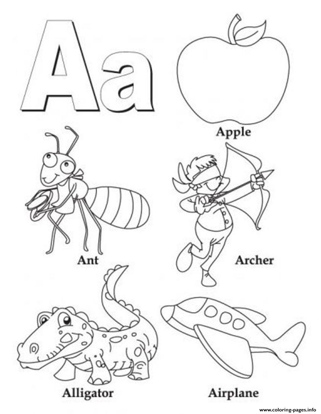 alphabet coloring pages download - photo#20