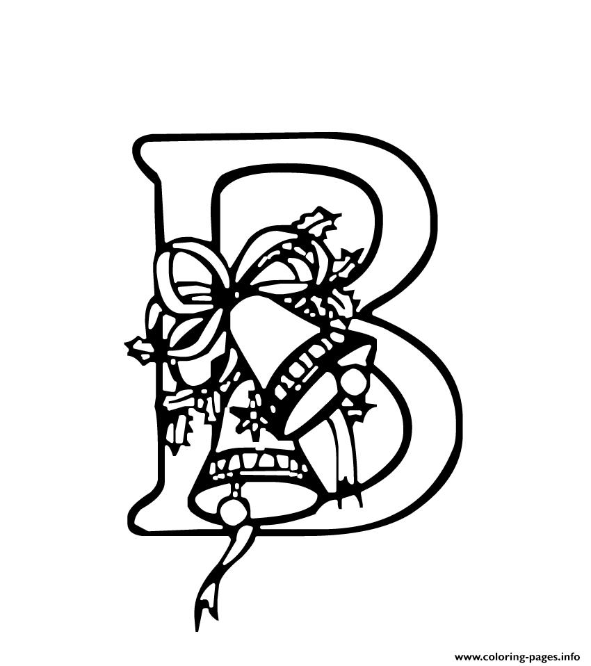 christmas alphabet s727a coloring pages
