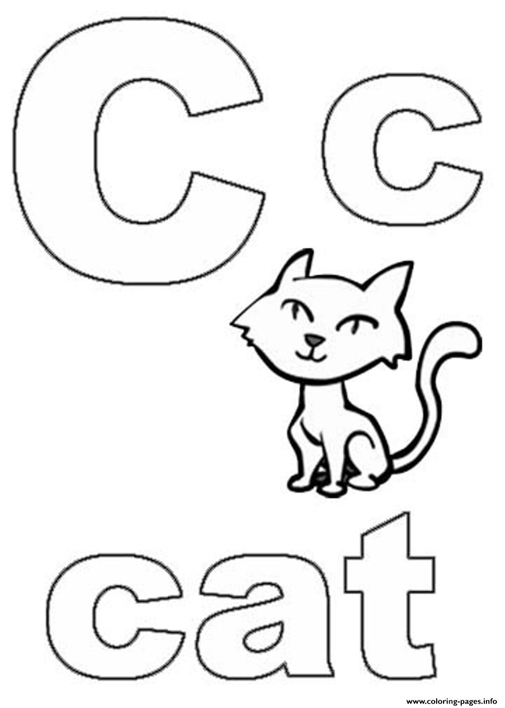 Printable S Alphabet C For Catab4b Coloring Pages Printable