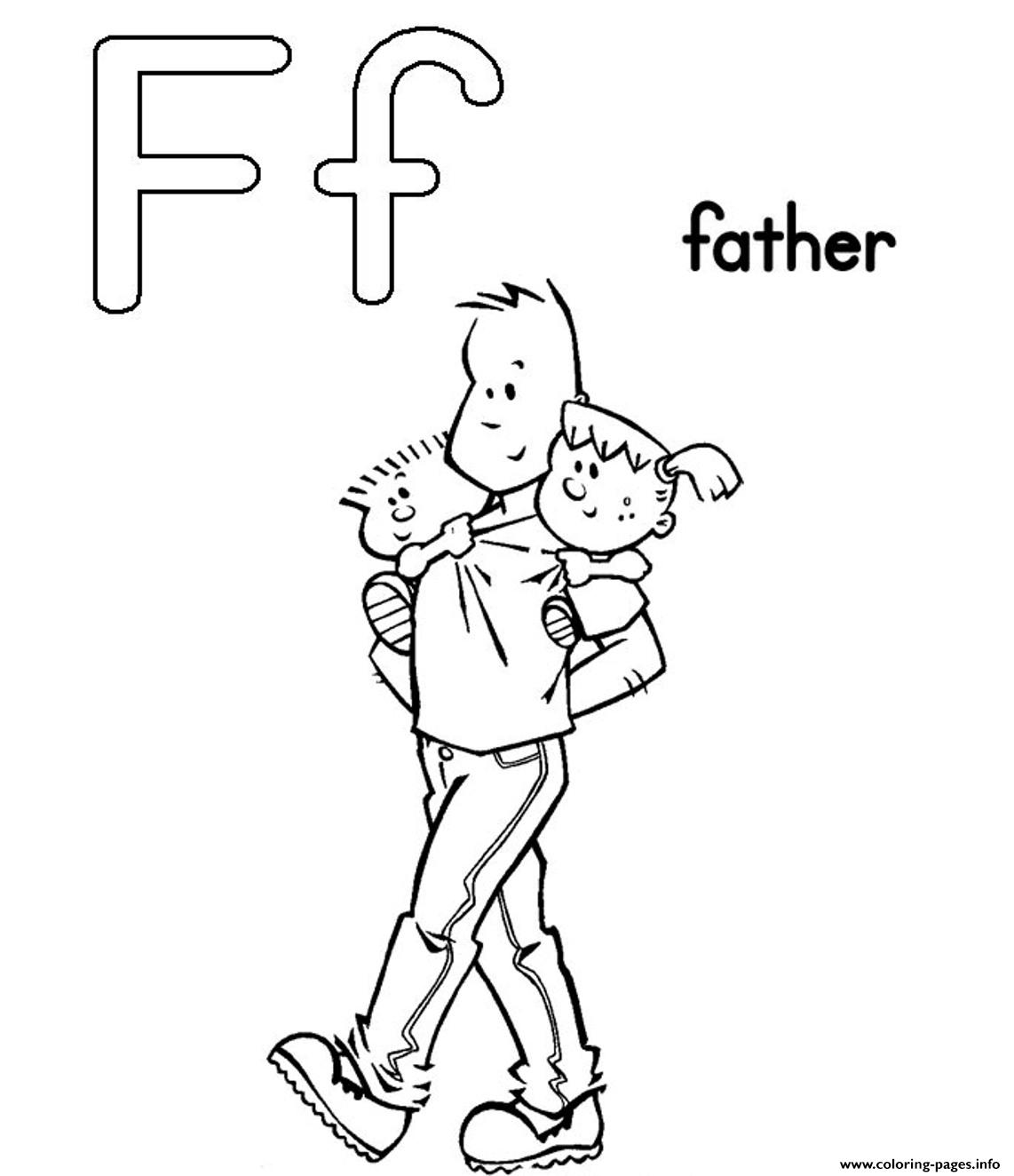 Father Free Alphabet S02c6 coloring pages