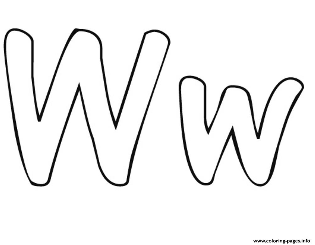 W Free Alphabet Sa2e6 coloring pages