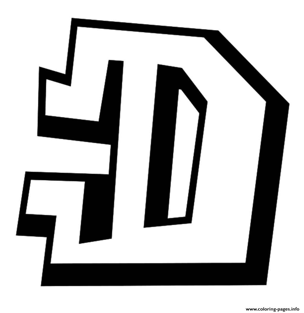 Graffiti D Printable Alphabet S4a54 Coloring Pages