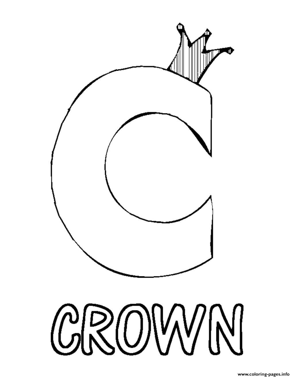 crown c s alphabet7351 Coloring pages Printable
