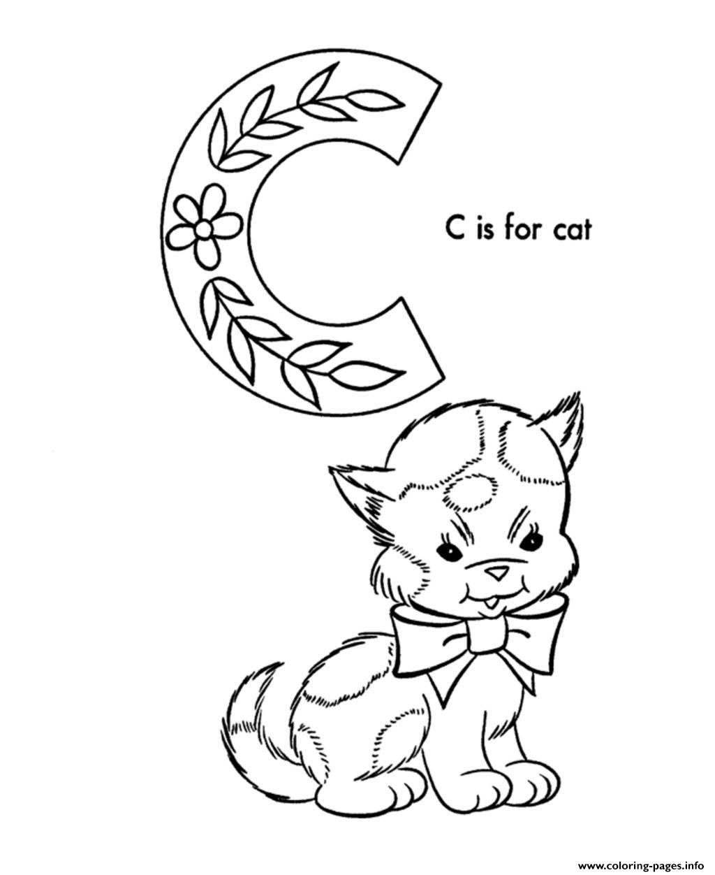 Cute Cat S Alphabet878f Coloring