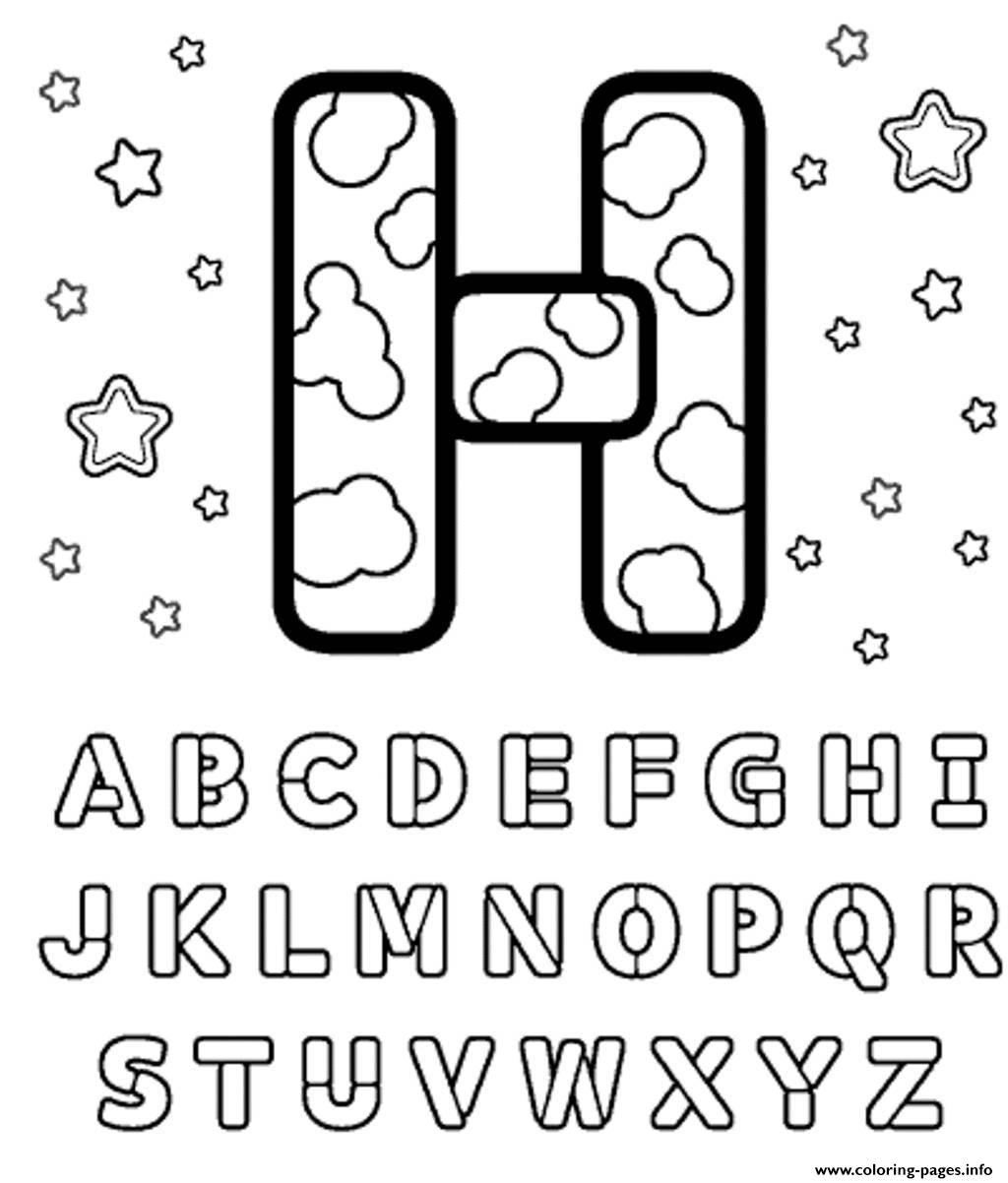 Letter H Alphabet S Printablef495 Coloring Pages