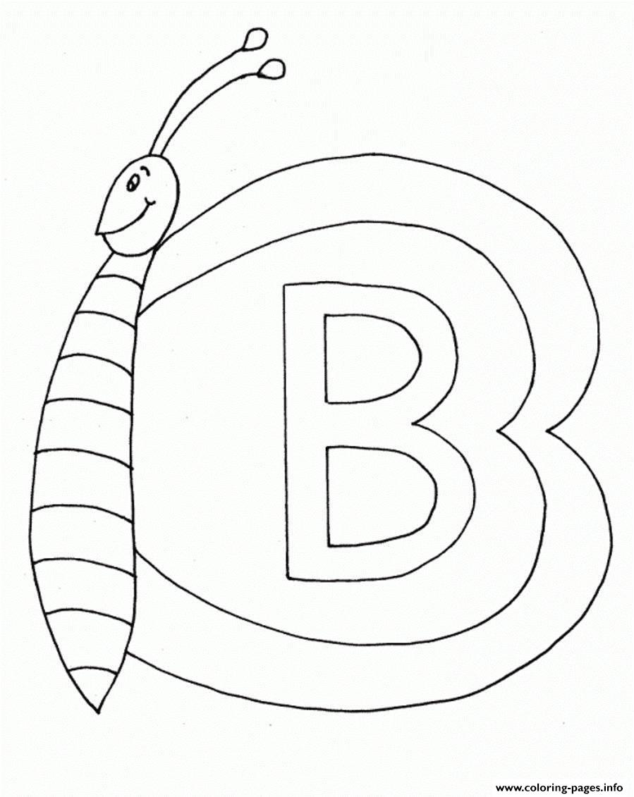 Butterfly B Alphabet S282e coloring pages