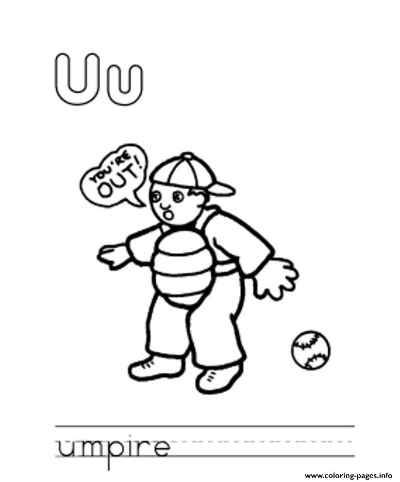 Umpire Alphabet S Free8dbc coloring pages