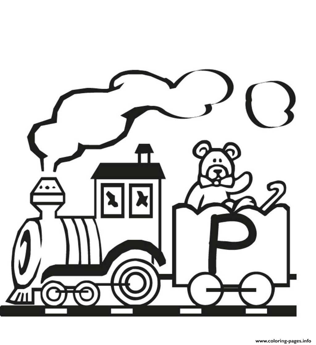 Alphabet train coloring -  Train P Free Alphabet S28ef Printable Coloring Pages Book 4833