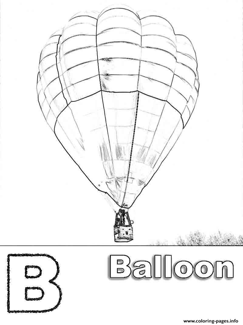 Balloon B Alphabet S7328 Coloring