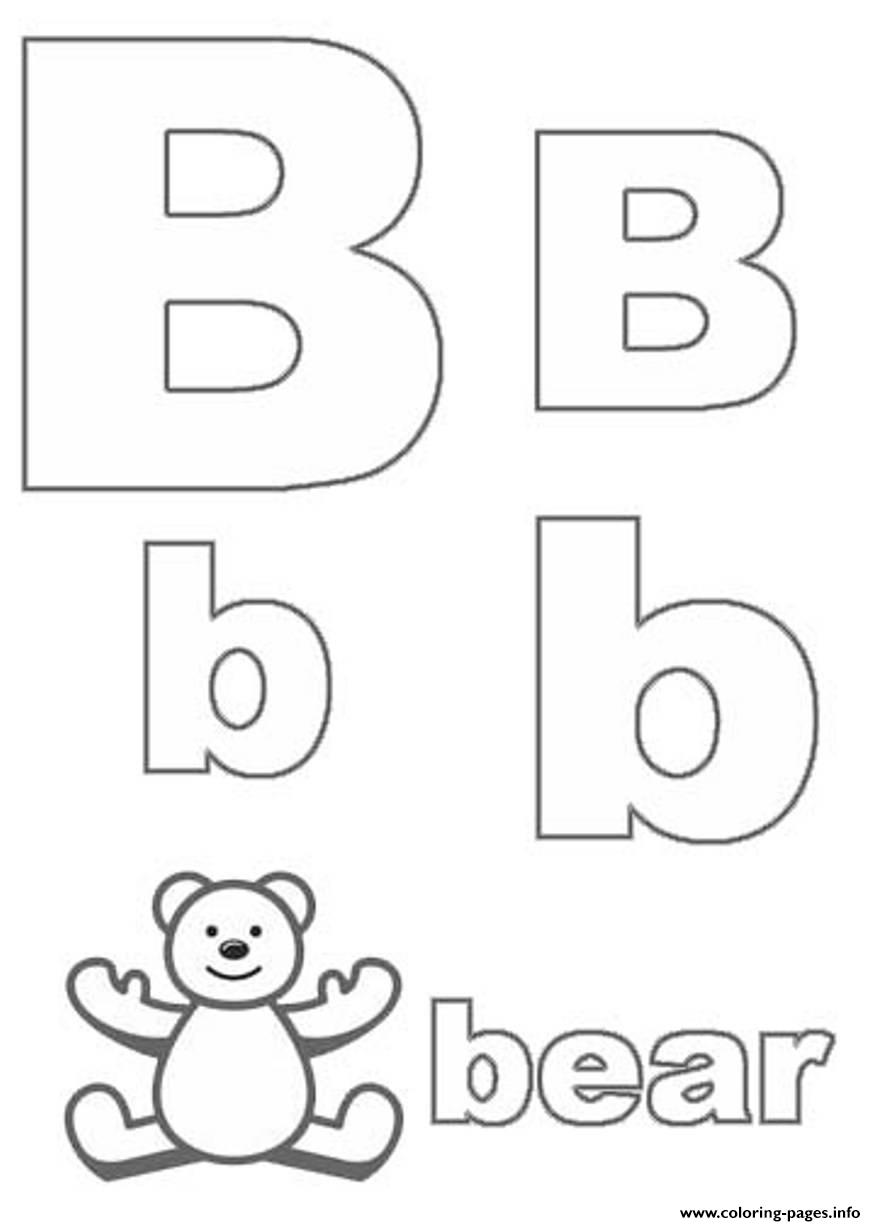 Cute Bear Alphabet S0515 Coloring