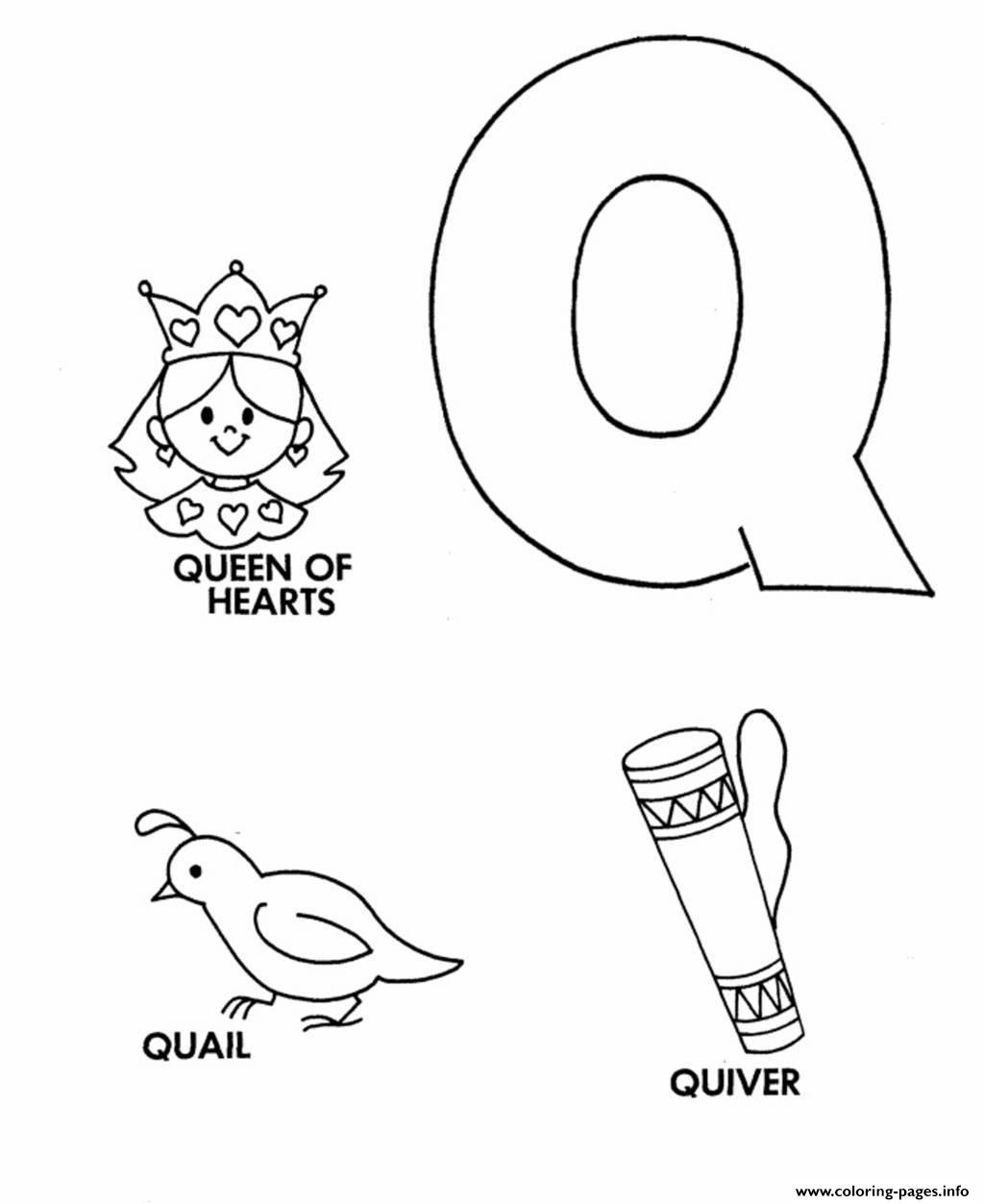 Free Alphabet S Q Words35cc coloring pages