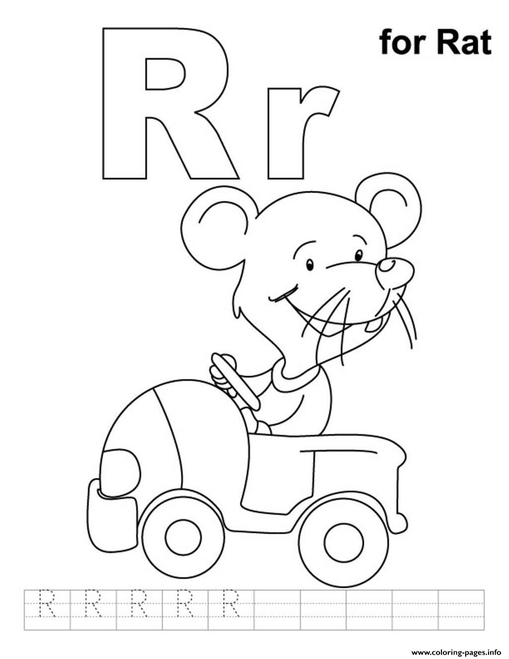 letter r is for rocket coloring page free printable r is for rat free alphabet sad6c coloring pages printable 391
