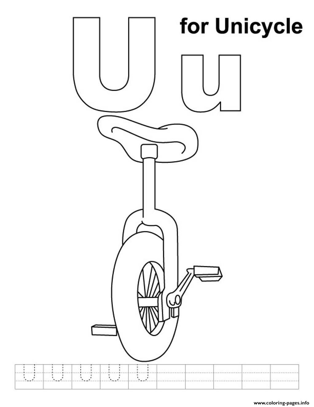 unicycle alphabet s free60dc coloring pages printable