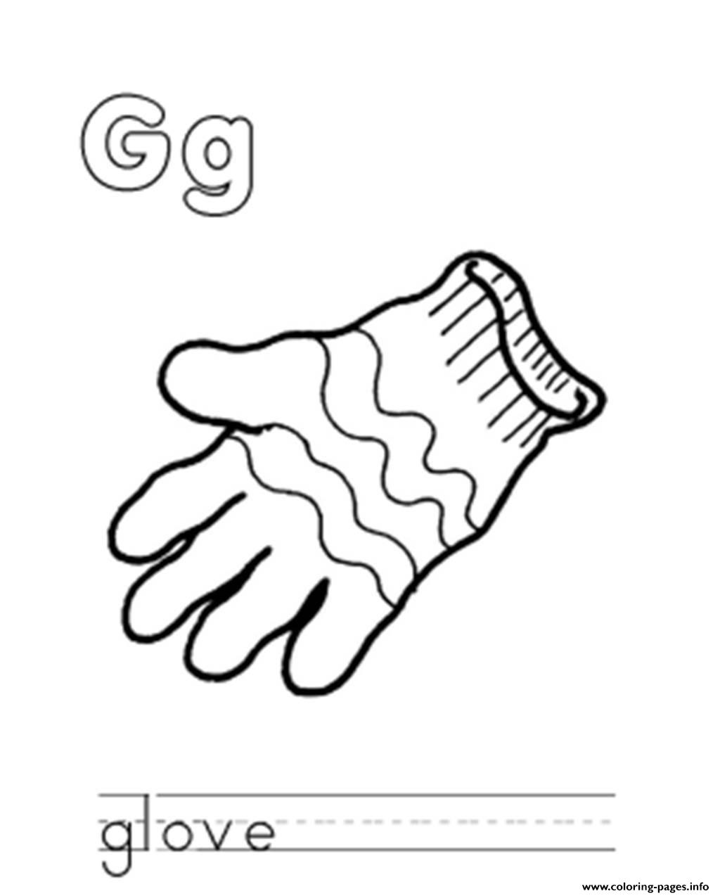 Glove S Alphabet Ge149 Coloring