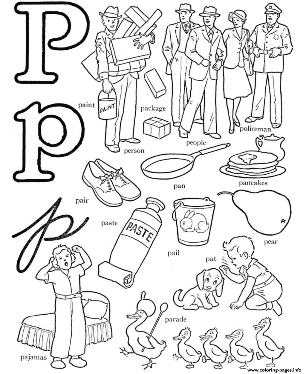 P words free alphabet s6040 coloring pages printable